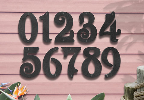 "Numbers for Business, 6"" Metal Street Numbers"