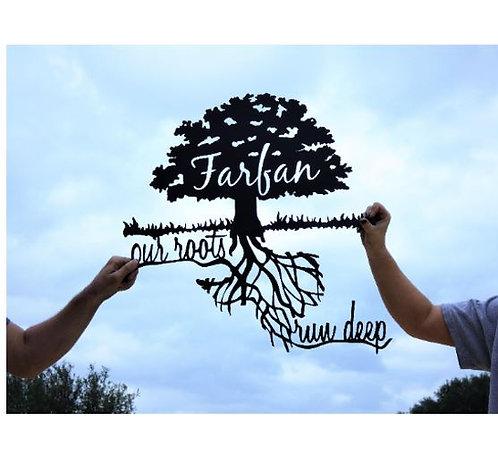Our Roots Run Deep Custom Texas Oak Tree Sign LMW-16-55