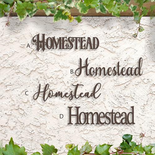 Homestead Metal Word Sign, Home Decor