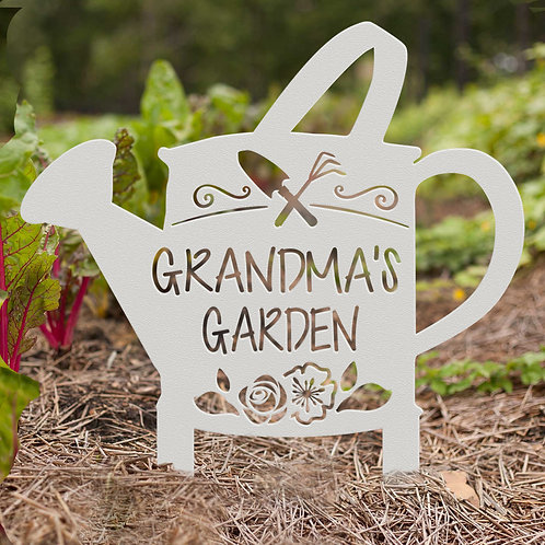 Grandmas Garden Sign, Gift for Grandma
