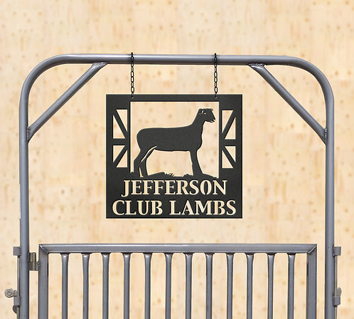 Show Lamb Metal Sign