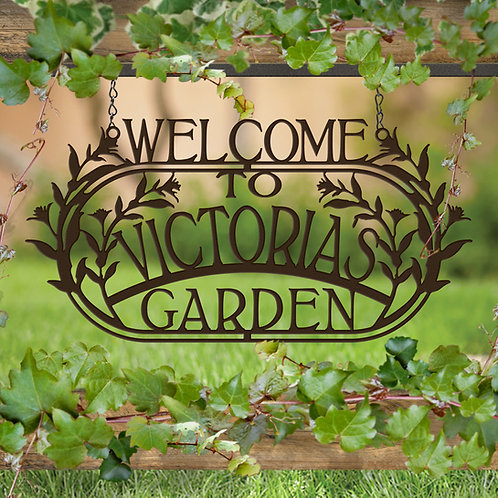 Welcome to the Garden, Custom Garden Sign