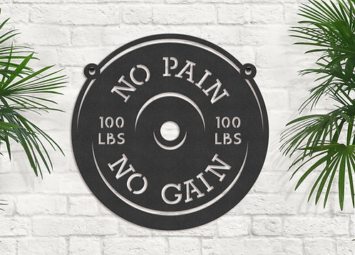 Metal Gym Wall Decoration, Sign for Weight Room