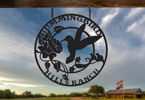 Hummingbird Custom Ranch Sign