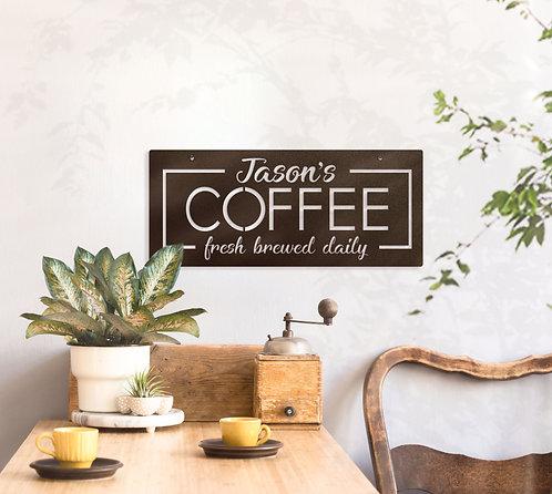 Custom Coffee Sign ~ Your Name Coffee Decoration