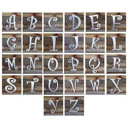 Curlz Font Steel Letter