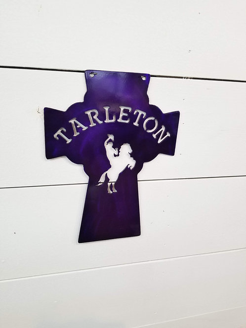 Tarleton Cross Metal Sign