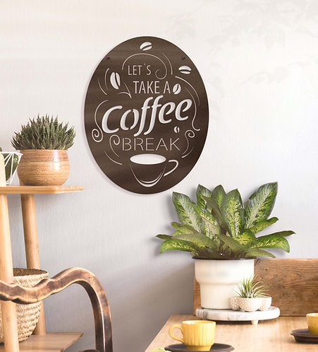 Let's Take a Coffee Break Metal Sign
