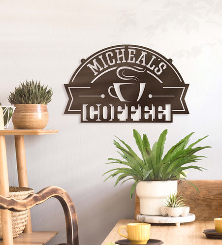 Personalized Coffee Sign ~ Custom Metal Sign