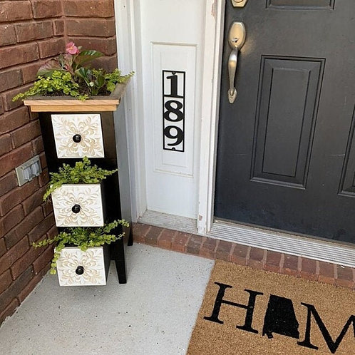 """3 1/2"""" Wide Vertical Home Address Sign, Metal Vertical Numbers for 4 x4 post"""