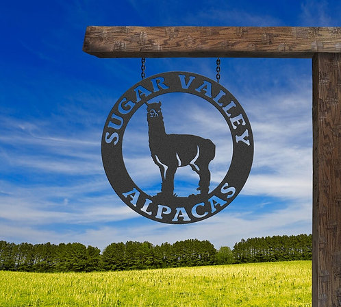 Alpaca Farm Sign, Alpaca Ranch Entry Sign