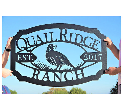 Quail Sign Custom with your name and est. date