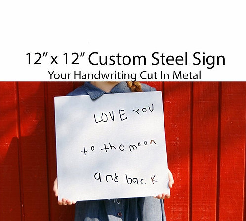 Handwritten Metal Custom Quote Sign, Inspirational Personalized Steel Wall Art D