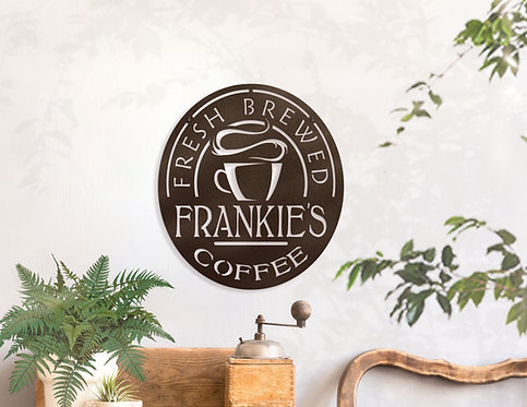 Personalized Coffee Decoration ~ Home Coffee Station Sign