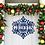 Thumbnail: Snowflake Name Metal Christmas Door Hanger Decor Sign