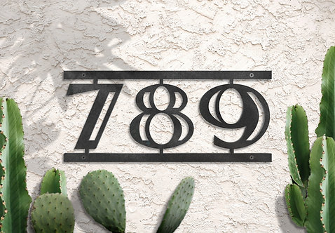 "House Numbers, 6"" Metal Address Sign"