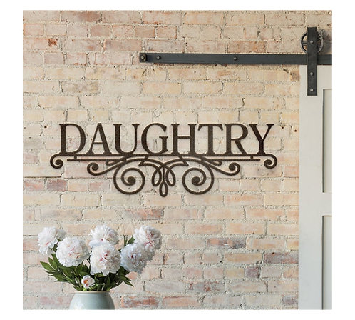 Pretty Name Plaque Personalized Sign