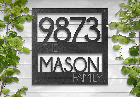Family Name and Address Sign, Personalized Address Sign