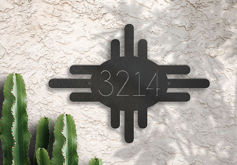 Address Number Sun Symbol Adobe House Sign