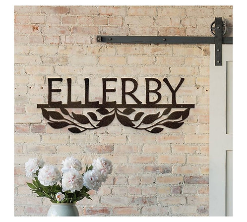 Personalized Metal Name Plaque,  Steel Cut Decoration