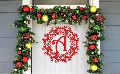 Farmhouse Simple Christmas Door Hanger Decoration