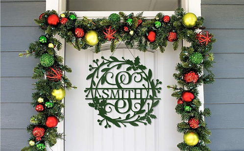 Farmhouse Simple Christmas Door Hanger Decoration