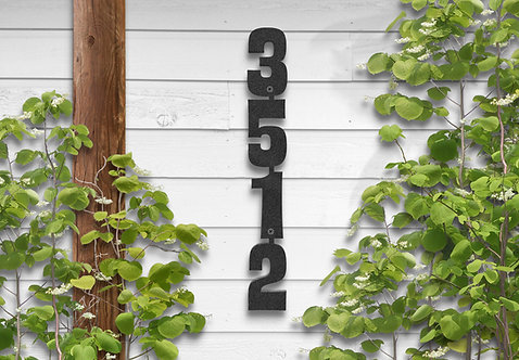Vertical Numbers, Metal Address Sign