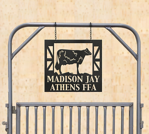 Dairy Show Cattle Metal Sign