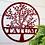 Thumbnail: Family Spring Tree Last Name Custom Metal Sign
