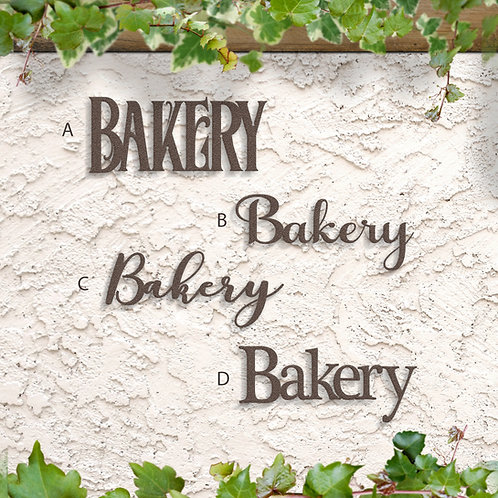 Bakery Word Sign, Bakery Metal Decoration
