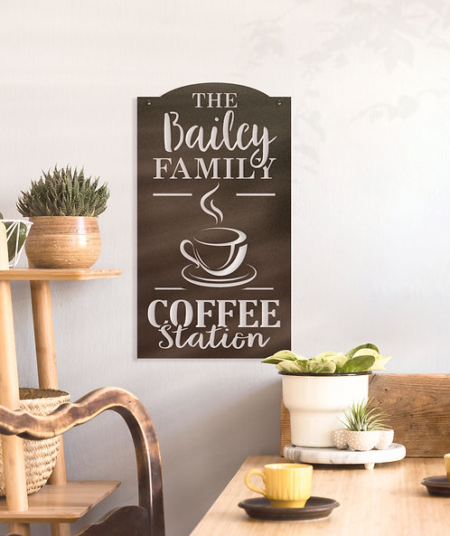Coffee Station Sign ~ With Your Name