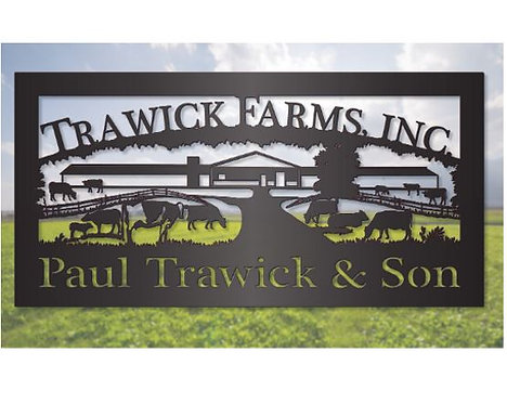 Dairy Cattle Farming Steel Sign LMW-16-81