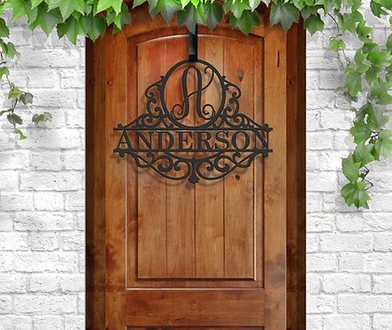 Classy Metal Name | Family Gift | Door Initial | Personalized Metal Sign