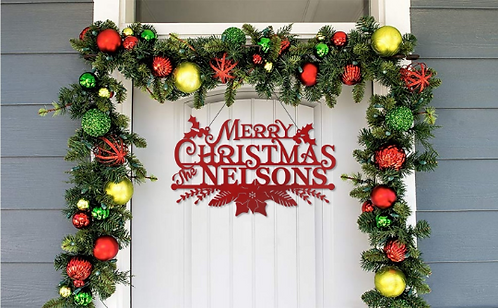 Merry Christmas from the Family Door Sign