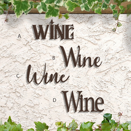 Kitchen Decor, Metal Wine Sign