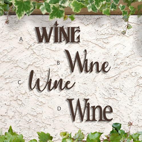 Kitchen Decor, Metal Wine Sign
