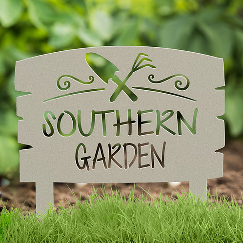 Gift for Gardener, Metal Garden Sign with Stakes