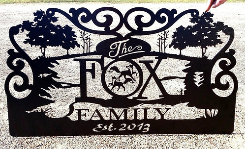 Metal Family Nature Sign
