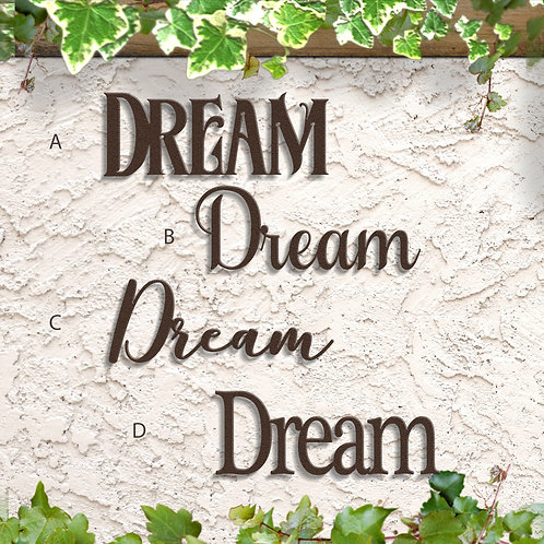 Bedroom Decoration, Dream Word Sign