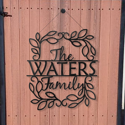 Metal Name Sign - Front Porch Sign