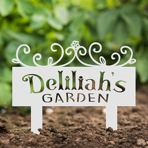 Garden Marker with Stakes Metal Sign