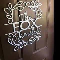 the fox family leaf frame sign.jpg