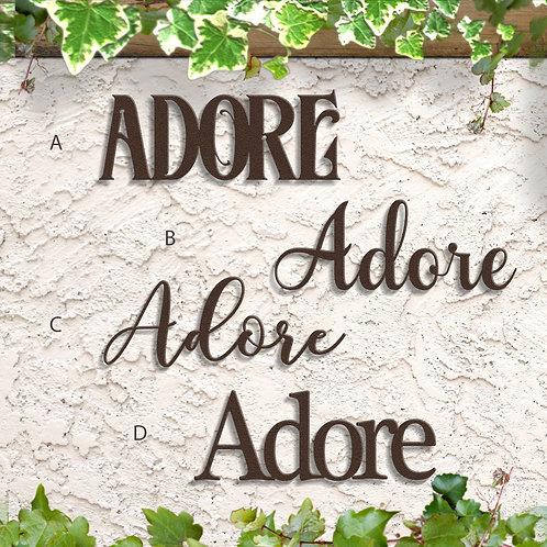 Adore Word Sign, Metal Script Sign