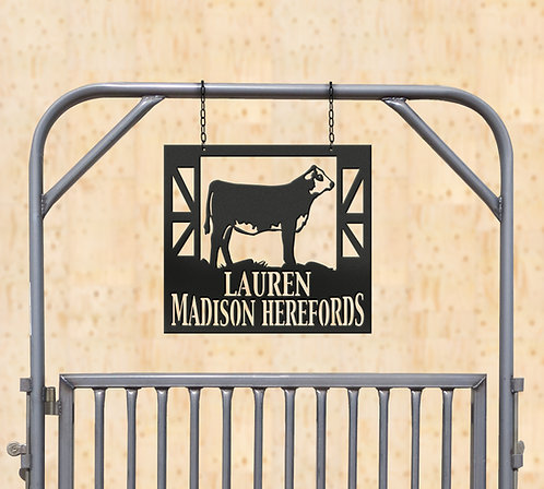 Show Hereford Metal Sign