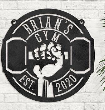 Brians Gym vertical sign.JPG