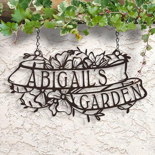 Custom Garden Sign, Memory Garden Sign