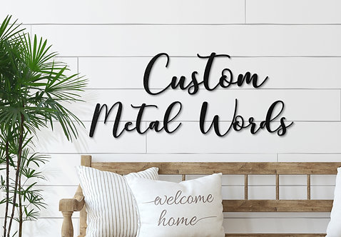 Custom Script Words