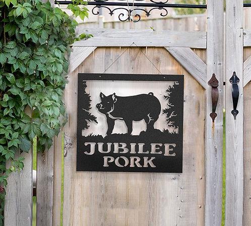 Swine Metal Barn Sign, Hampshire, Yorkshire, Berkshire