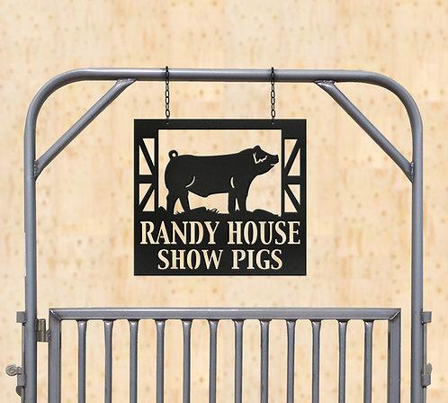 Show Pig Metal Sign