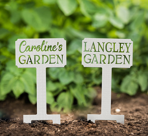 Custom Mini Garden Sign, Personalized Garden Stake